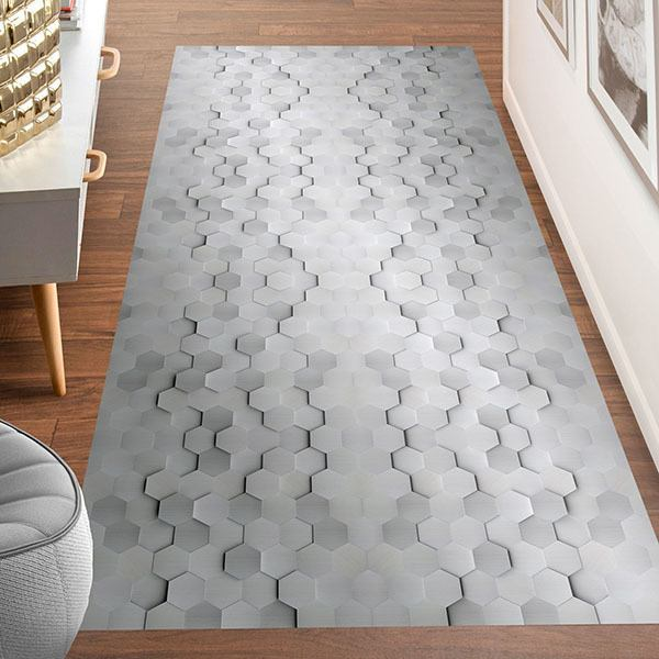 Wall Stickers: Hexagon in grey