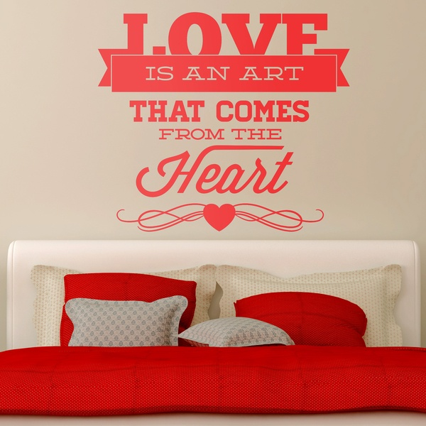 Wall Stickers: Love is an Art