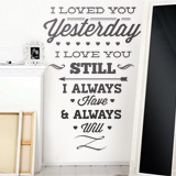 Wall Stickers: I Loved You Yesterday 2