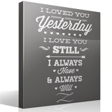 Wall Stickers: I Loved You Yesterday 3