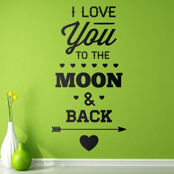Wall Stickers: I Love You to the Moon