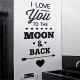 Wall Stickers: I Love You to the Moon 2