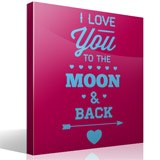 Wall Stickers: I Love You to the Moon 3