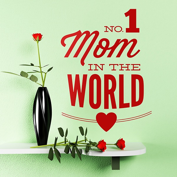 Wall Stickers: No 1 Mom in the World