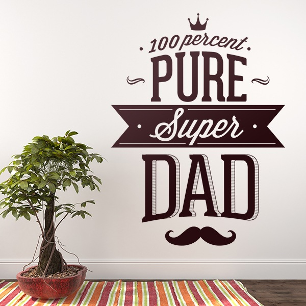Wall Stickers: 100 Percent Pure Super Dad