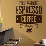 Wall Stickers: Fresh & Strong Espresso Coffee 2