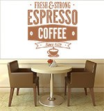 Wall Stickers: Fresh & Strong Espresso Coffee 3
