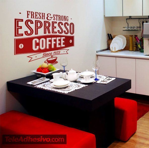 Wall Stickers: Fresh & Strong Espresso Coffee