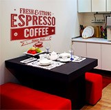 Wall Stickers: Fresh & Strong Espresso Coffee 5