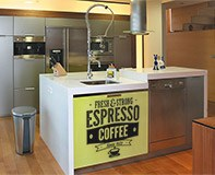 Wall Stickers: Fresh & Strong Espresso Coffee 6