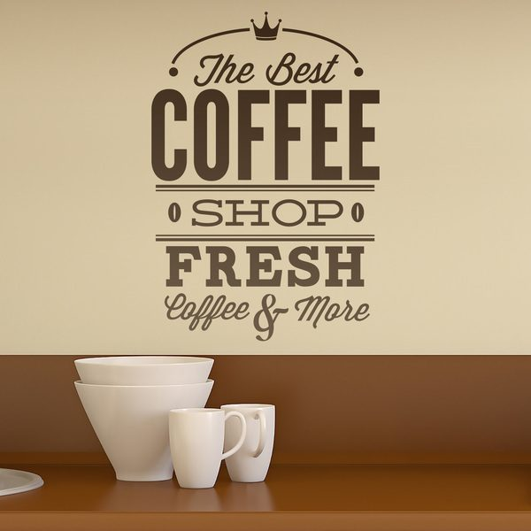 Wall Stickers: The Best Coffee Shop - Fresh