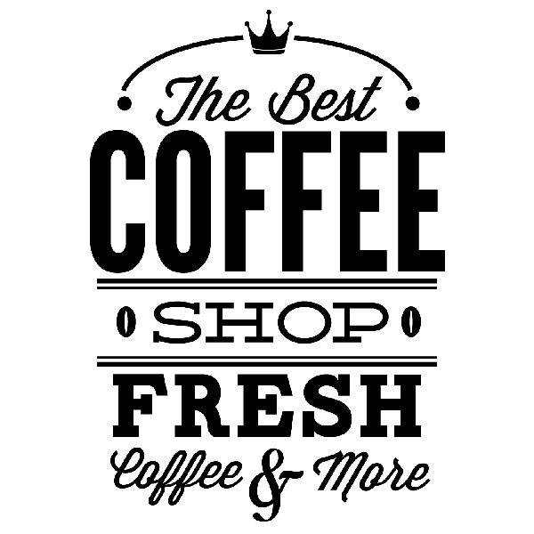 Wall Stickers: The Best Coffee Shop Fresh