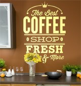 Wall Stickers: The Best Coffee Shop Fresh 2