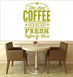 Wall Stickers: The Best Coffee Shop Fresh 3
