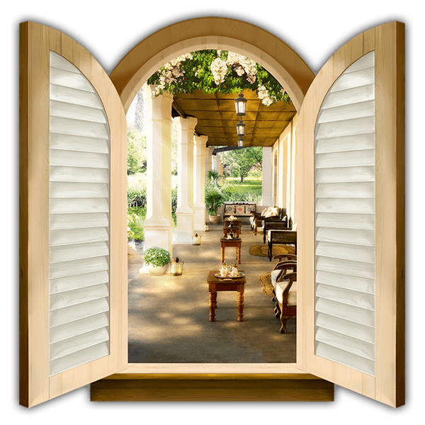 Wall Stickers: Window classic porch