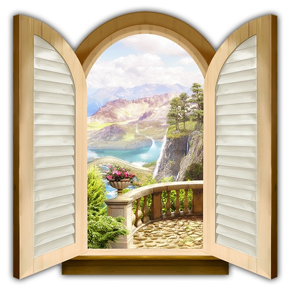 Wall Stickers: Window Valley of the castles