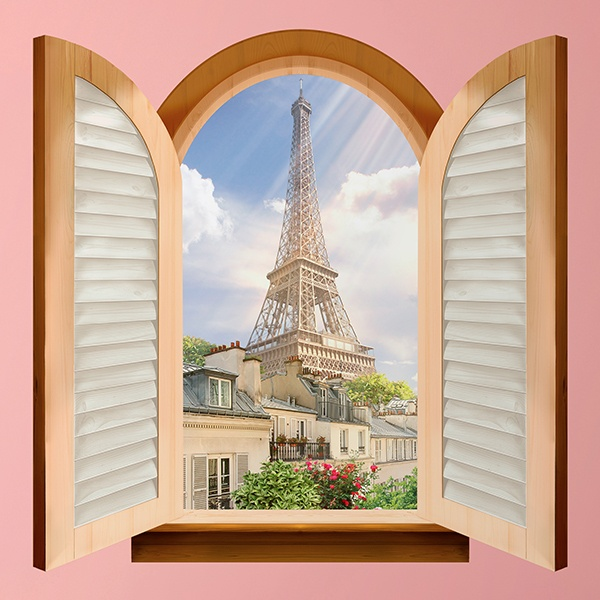 Wall Stickers: Window Eiffel Tower