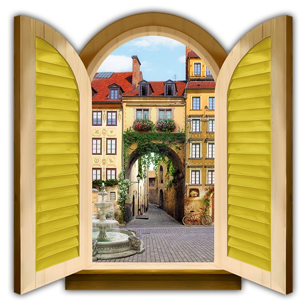 Wall Stickers: Window Gate to old town