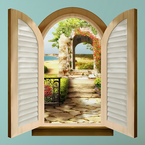 Wall Stickers: Window Garden on the beach