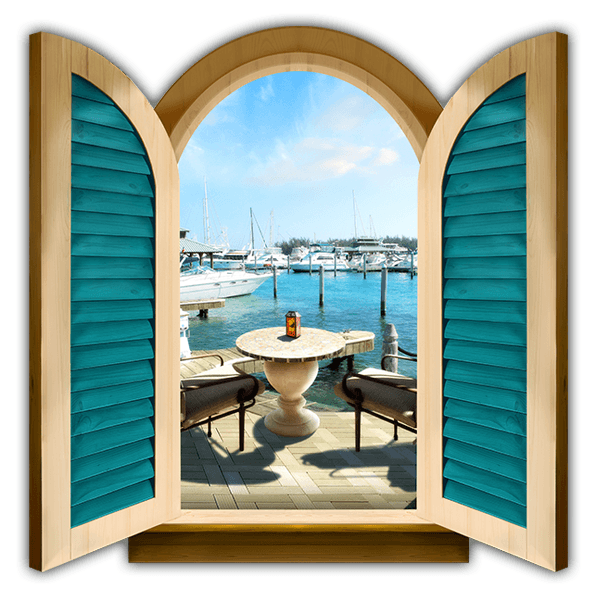 Wall Stickers: Window Leisure port