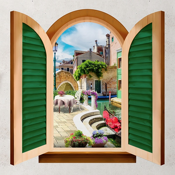 Wall Stickers: Window corner of Venice