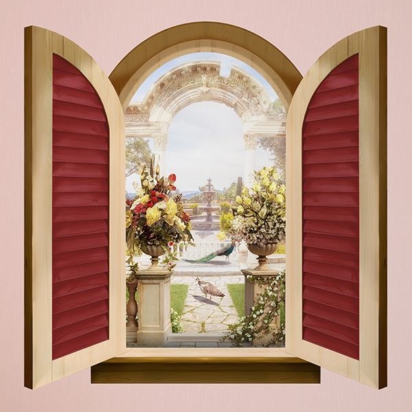 Wall Stickers: Window Roman arch