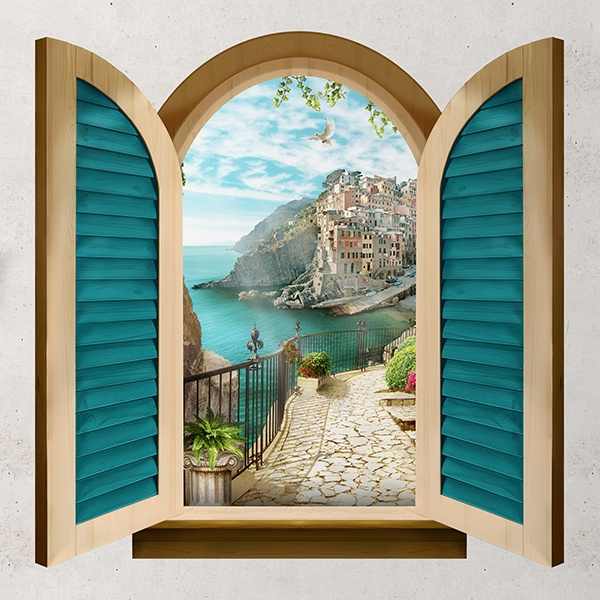 Wall Stickers: Window Ligurian Sea