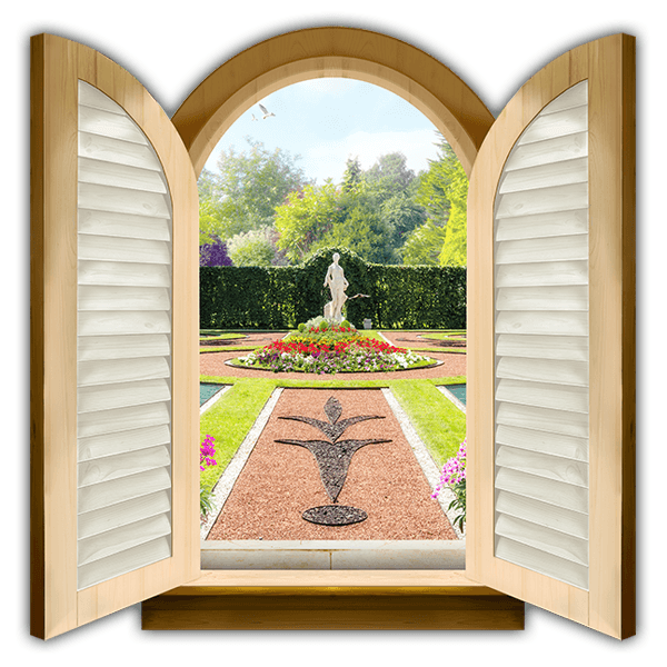 Wall Stickers: Window Palace Garden