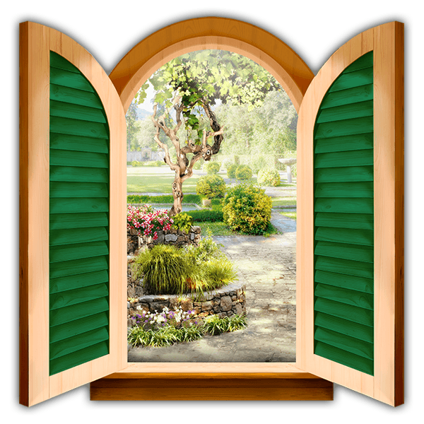 Wall Stickers: Window cottage garden