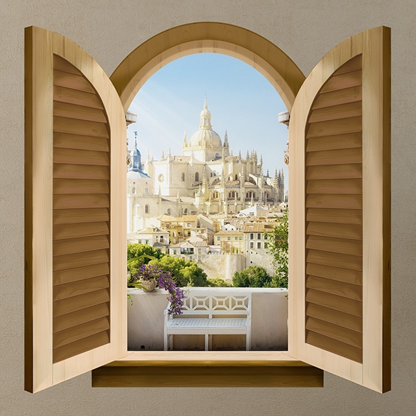 Wall Stickers: Window Segovia Cathedral