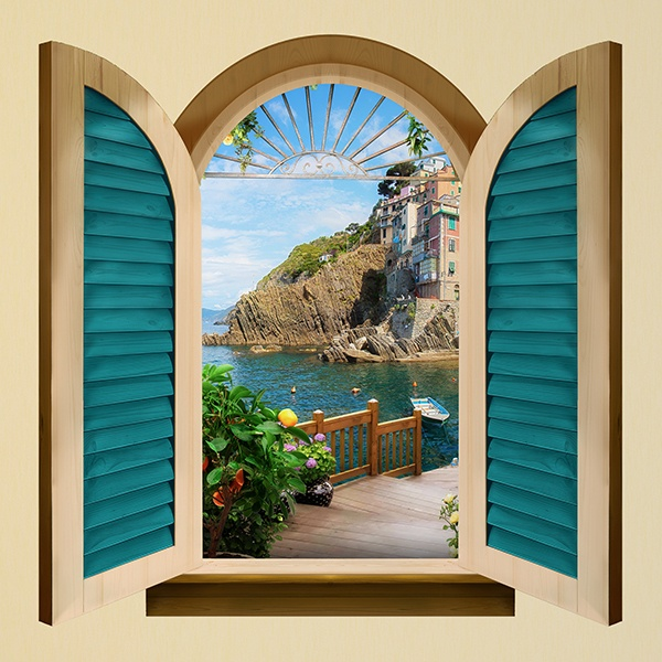 Wall Stickers: Window to Riomaggiore