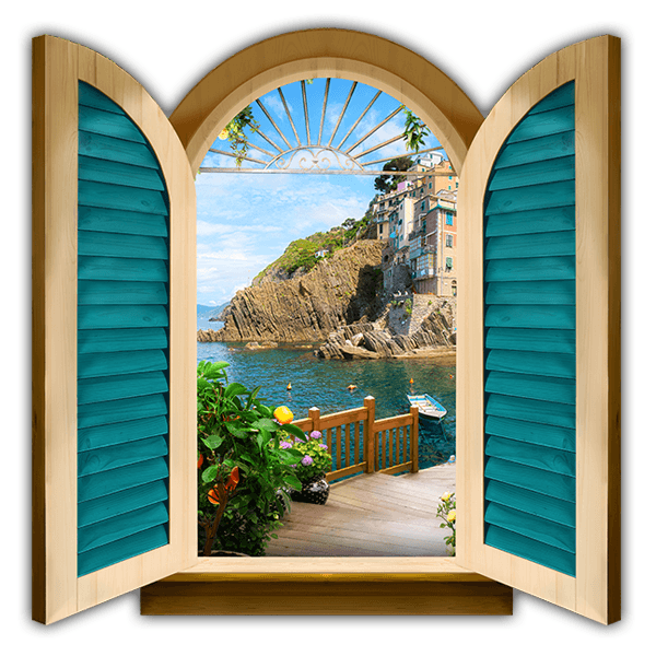 Wall Stickers: Window to Riomaggiore 0