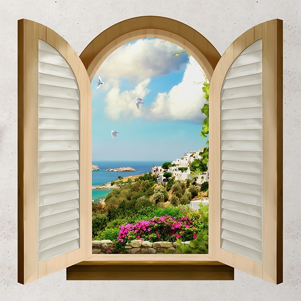 Wall Stickers: Window facing the sea 1