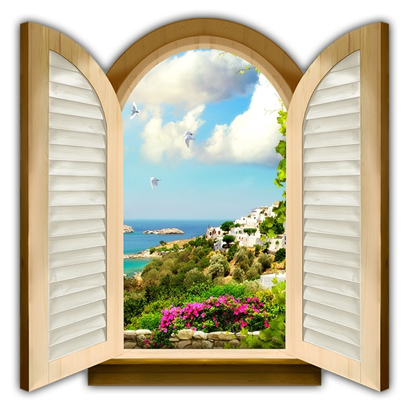Wall Stickers: Window facing the sea