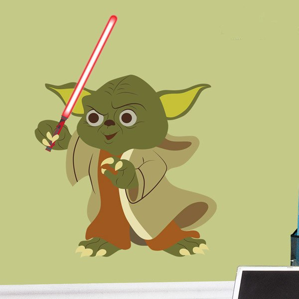 Stickers for Kids: Yoda sword