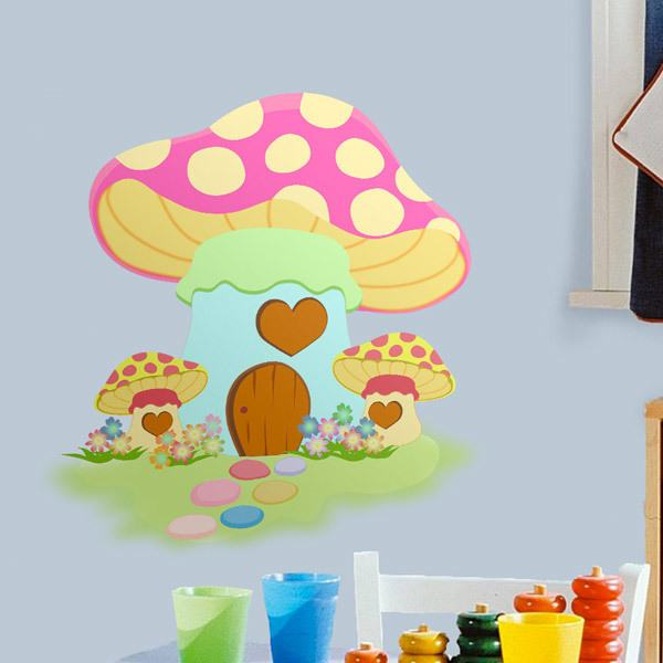 Stickers for Kids: Pink Mushroom