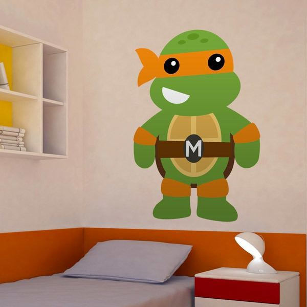 Stickers for Kids: Ninja turtle Michelangelo