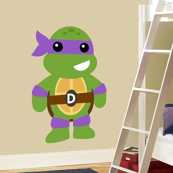 Stickers for Kids: Ninja turtle Donatello