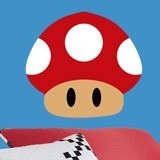 Stickers for Kids: Red mushroom of Mario Bros 3