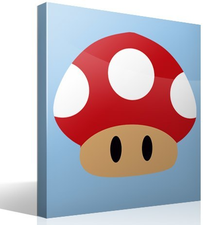 Stickers for Kids: Red mushroom of Mario Bros