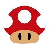 Stickers for Kids: Red mushroom of Mario Bros 6