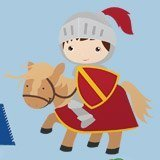 Stickers for Kids: Red Knight 3