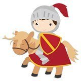 Stickers for Kids: Red Knight 6