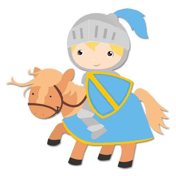 Stickers for Kids: Blue Knight