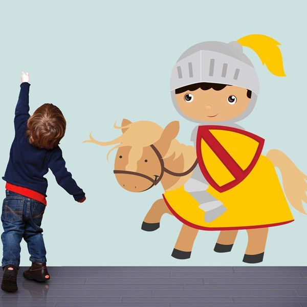 Stickers for Kids: Yellow knight