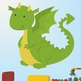 Stickers for Kids: Dragon  3