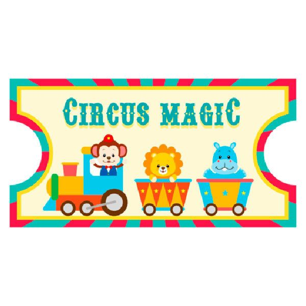 Stickers for Kids: Ticket Circus Magic