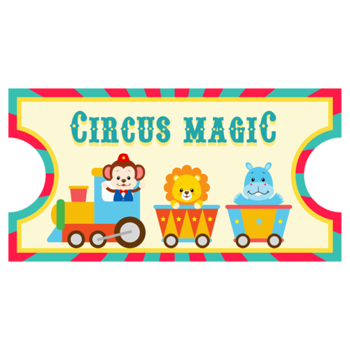 Stickers for Kids: Ticket Circus Magic 0