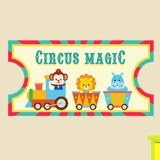 Stickers for Kids: Ticket Circus Magic 3