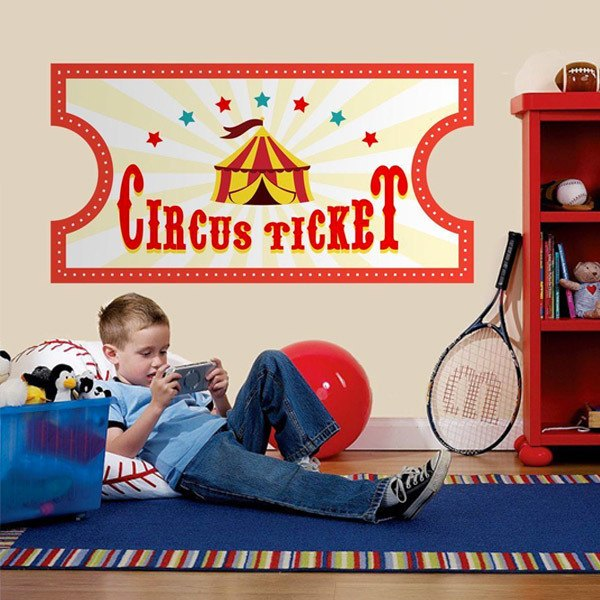 Stickers for Kids: Circus Ticket
